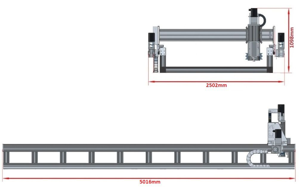 dcnc router kit 4700x1790x200mm