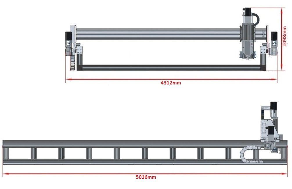 dcnc router kit 4700x3600x200mm