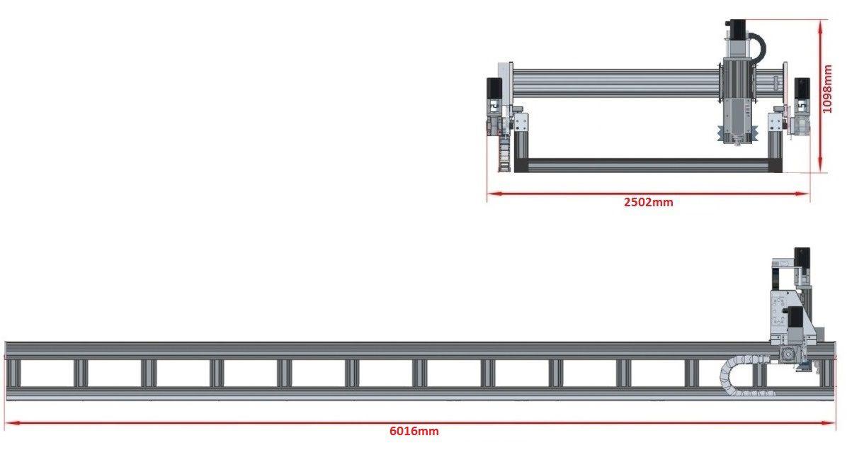 dcnc router kit 5700x1790x200mm