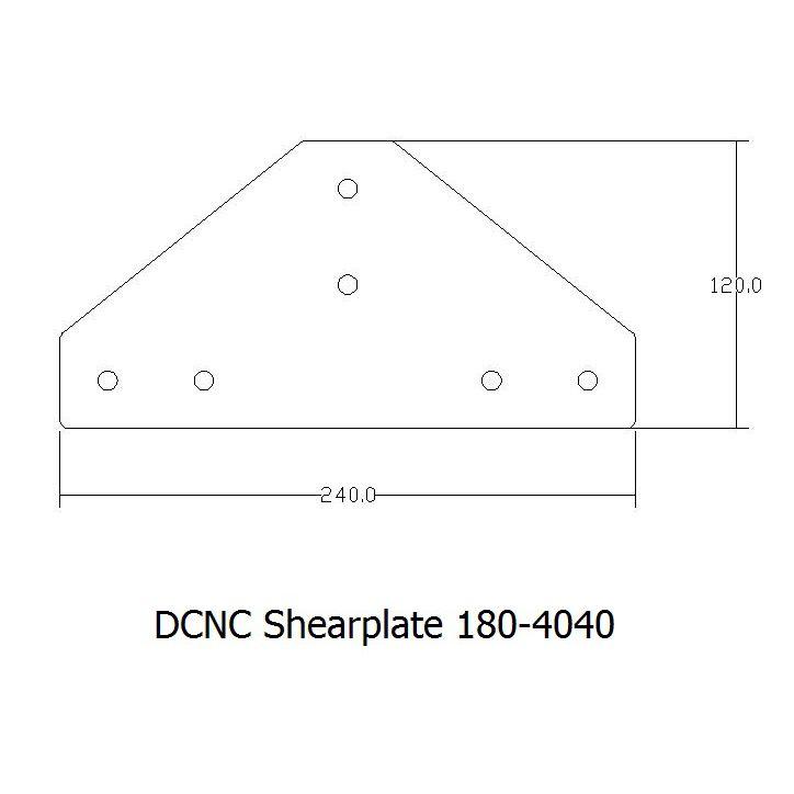 dcncshearplates 1804040 including tnutsbolts