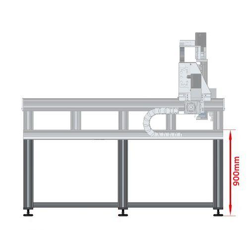 dcnc table frame 1700x3600mm