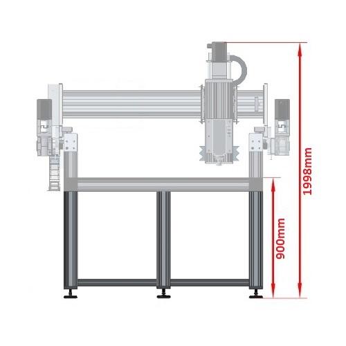 dcnc table frame 2700x1290mm