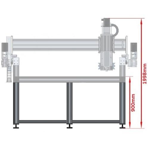 dcnc table frame 3700x1790mm