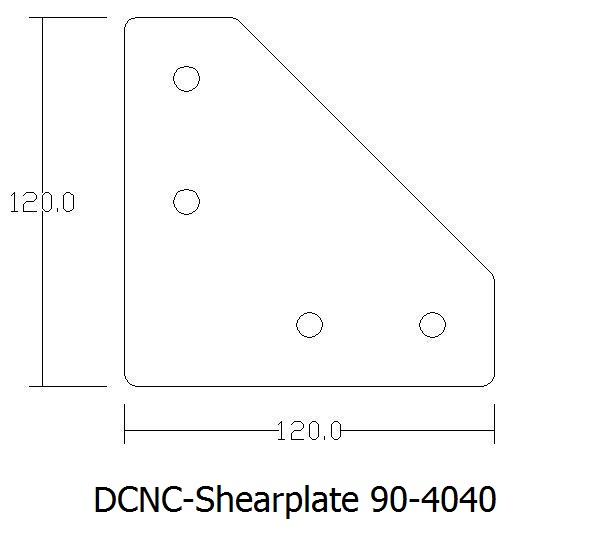 dcnctopplate 80x80 40 including tnutsbolts