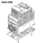 DELTA DIN-rail mount type B (100mm wide) MKE-DRB