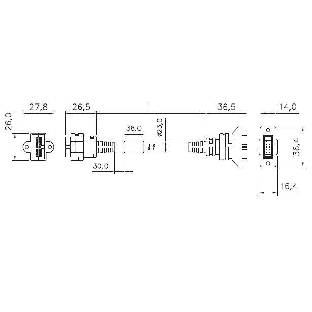 delta keypad extension cables eg5010c 5 meter eg5010a