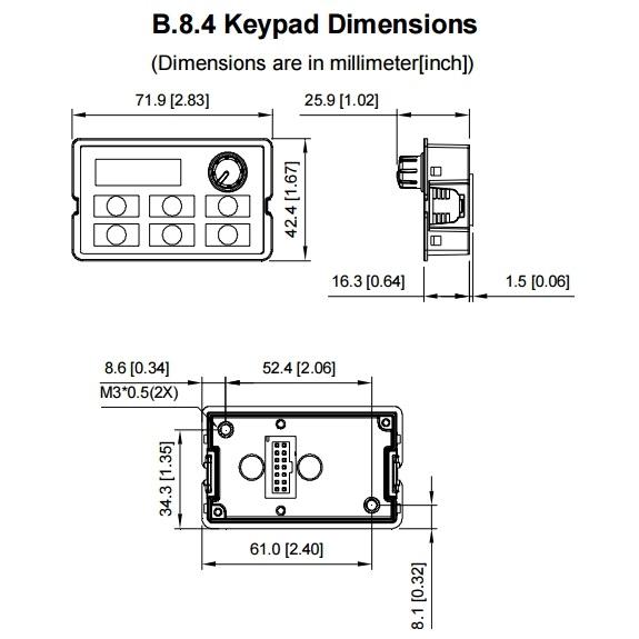 delta keypad for the vfde kpele02