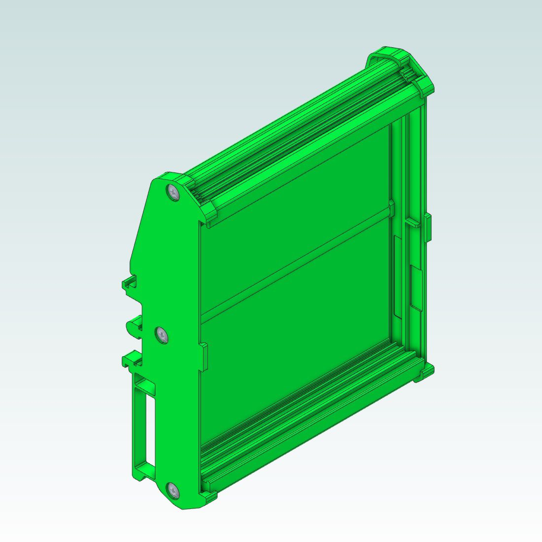 dinrail mount for cpu5a 100x100mm