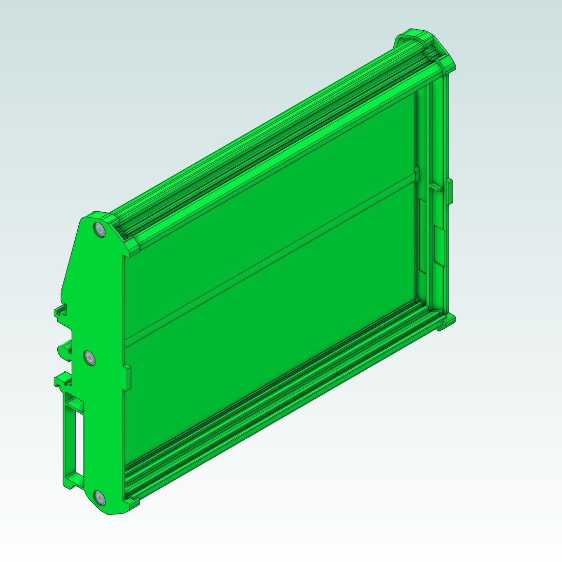 dinrail mount for rly8 io extension interface 108x160mm