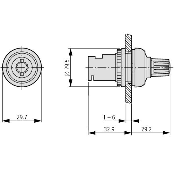 eaton moeller potentiometer 22mm r1k 229489