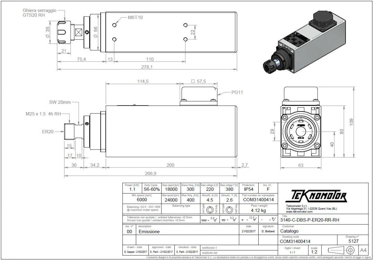 electrospindel c3140cdbsper20rr11kw1800024000rpm