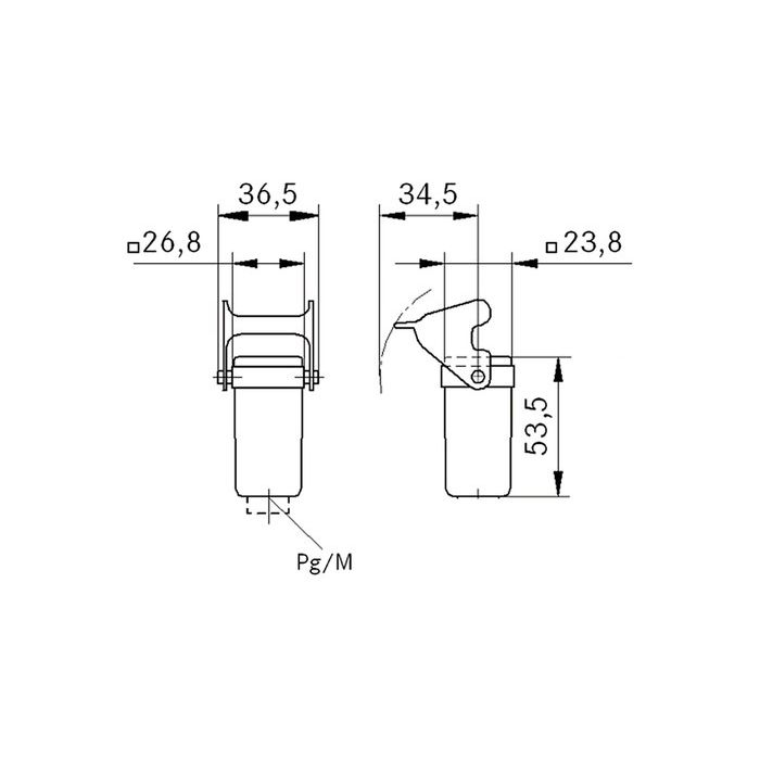 epic ha 3 mtgvb connector housing with clip pg11 cablegland