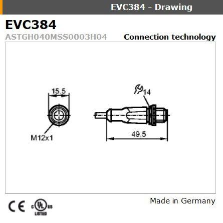 evc384 straight male m12 4pole 3m