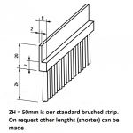 Flexible Brush Strip 50mm hairlength (price/meter)