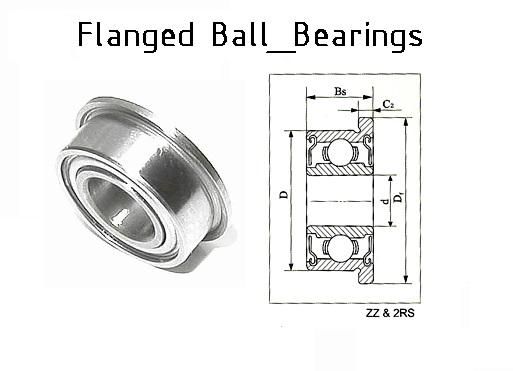 grooveballbearingsflanged f6000zz 10x26x828x1
