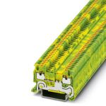 Ground modular terminal - PT 1,5/S-PE - 3208139 (GREEN/YELLOW)
