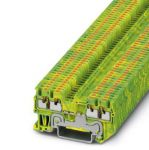 Ground modular terminal - PT 1,5/S-QUATTRO-PE - 3208333 (GREEN/YELLOW)
