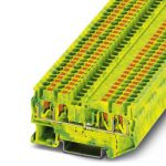 Ground modular terminal - PT 2,5-QUATTRO-PE - 3209594 (GREEN/YELLOW)