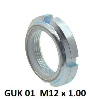 guk 01 m12x100mm locking nut with nylon insert