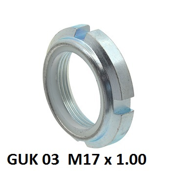 guk 03 m17x100mm locking nut with nylon insert