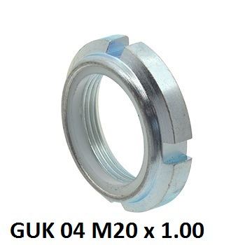 guk 04 m20x100mm locking nut with nylon insert