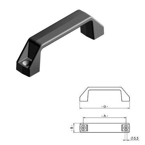 handle pa plastic black aa 170152mm bh 2852mm