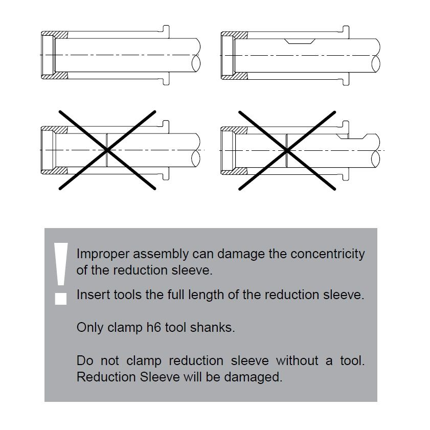 hs 12 800mm reduction sleeve for etp toolholders