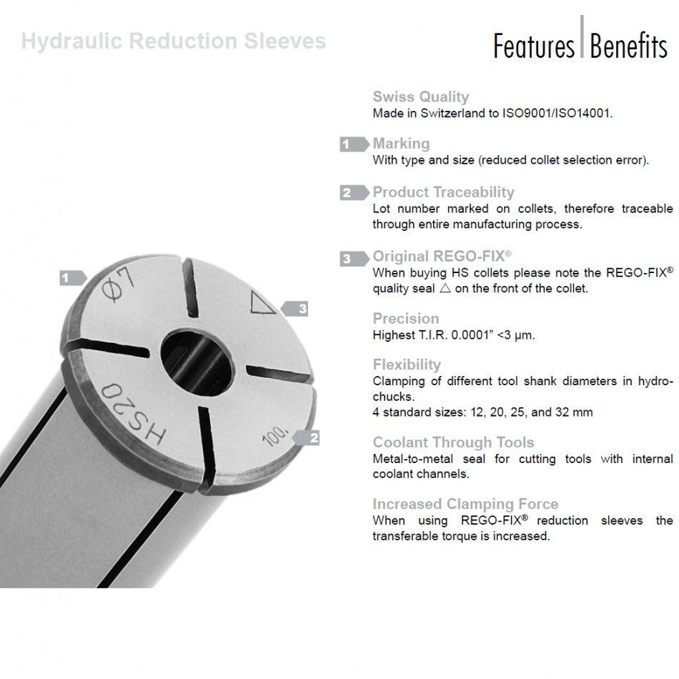 hs 20 70mm reduction sleeve for etp toolholders