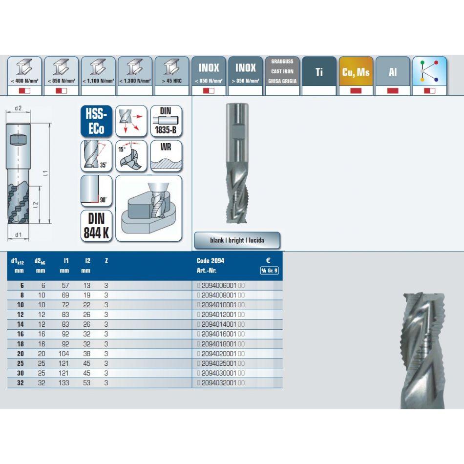 hssroughmill 1000 mm short 2094010001