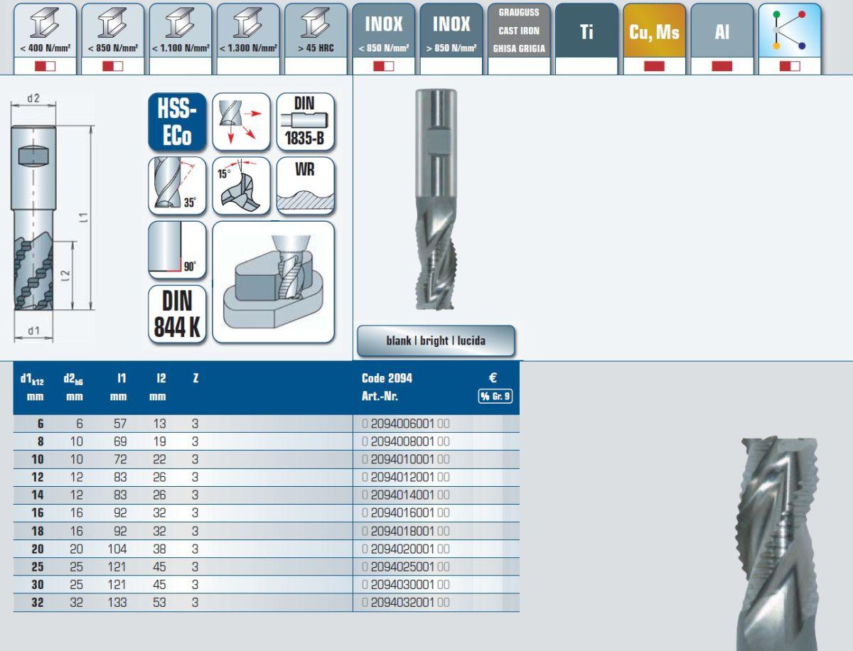 hssroughmill 800 mm short 2094008001