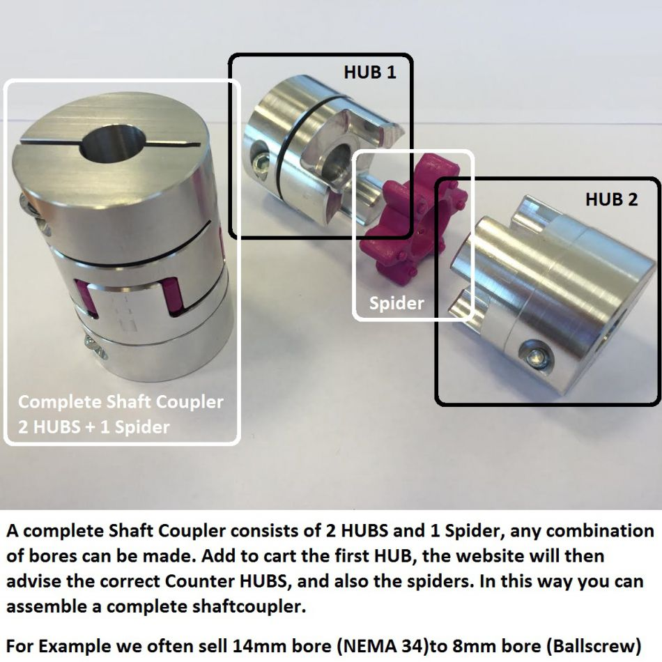 hub shaftcoupler dcncd40l65b1600mm
