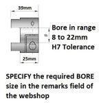 HUB Shaftcoupler DCNC-D40-L65-Bcustomized (specify size in remarks)