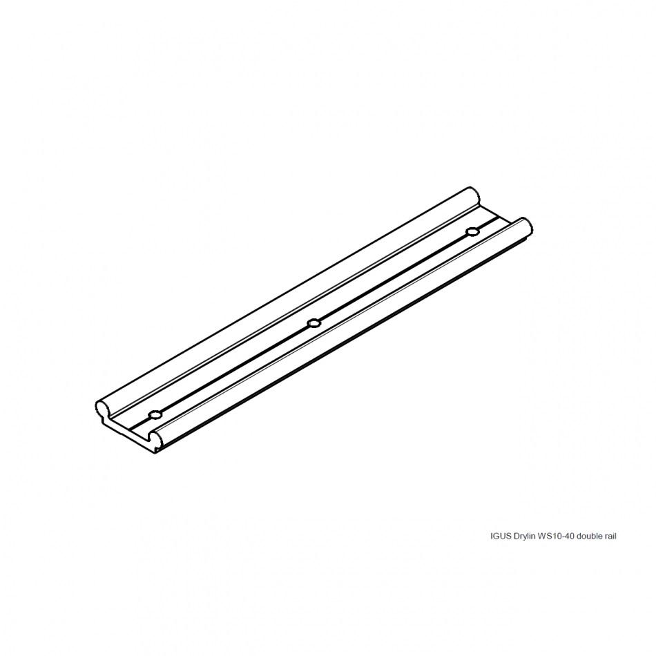 igus drylin ws1040 double rails