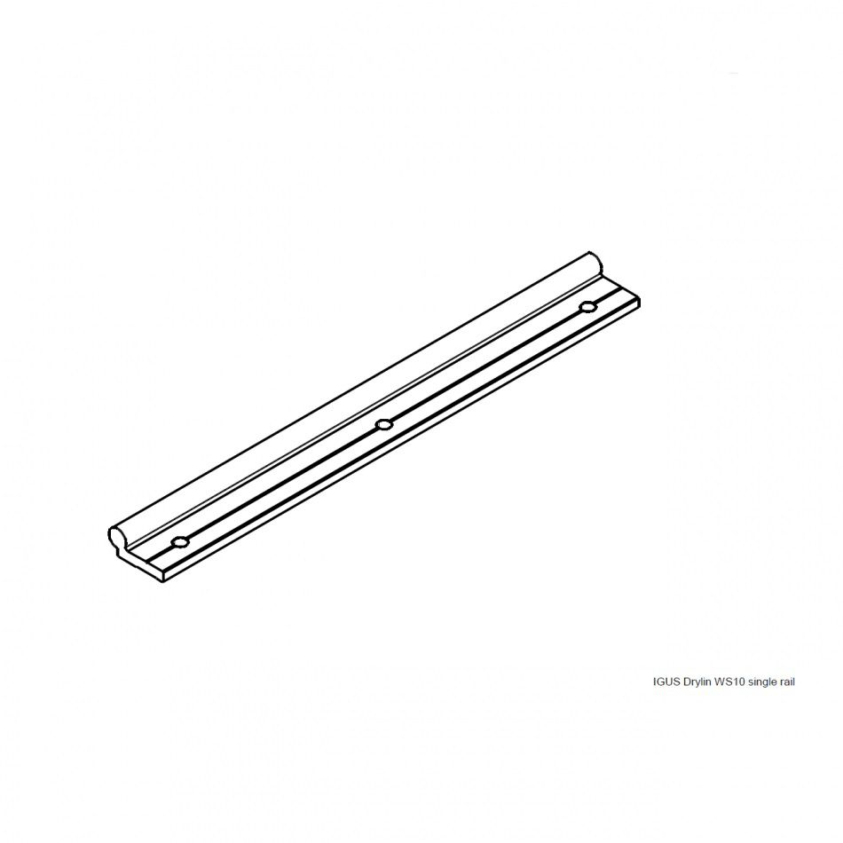 igus drylin ws10 single rail profile