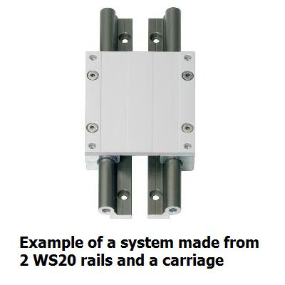 igus drylin ws20 single rail