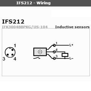 inductive proximity switch ifs 212 pnp 1036vdc long model
