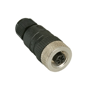m12 3 pole female cable connector straight screwtype rkc 3u7