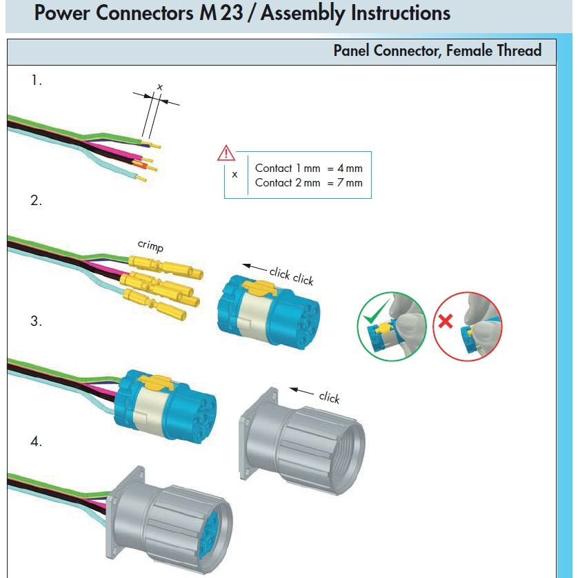 m23 power chassis connector female