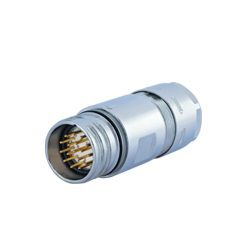 m23 signalcable straight connector male