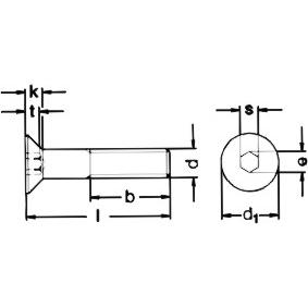 m5x16 88 din7991 iso10642 hexagon socket countersunk head screw
