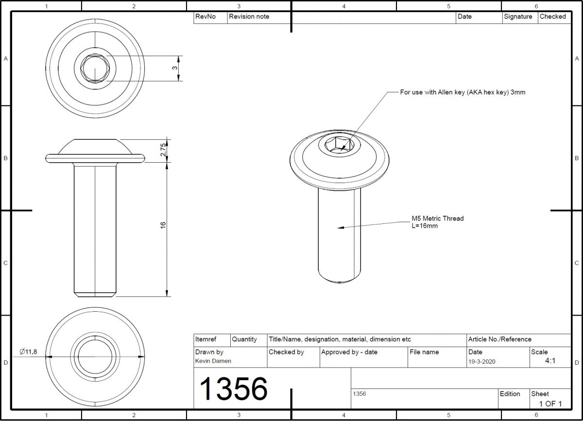 m5x16 bolt iso 73802 with flange