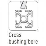 Maytec Cross Bushing Bore for Universal Verbinder