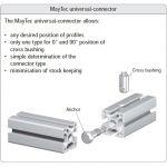 MayTec Universal Verbinder for E-slot (profile group 40)