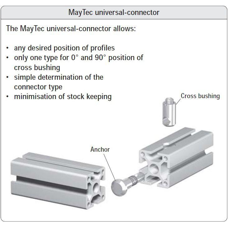 maytec universal verbinder for eslot profile group 40