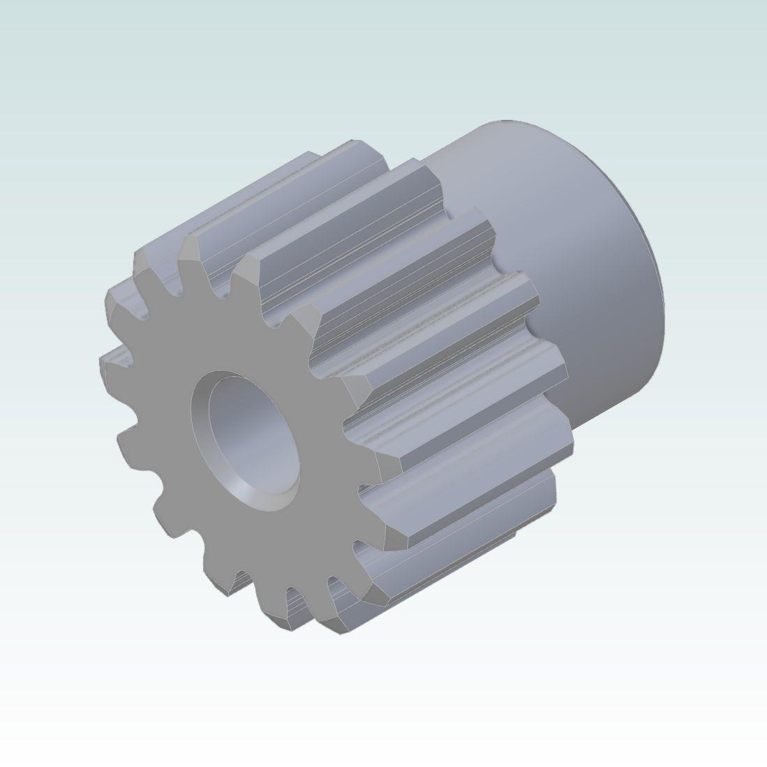 module 2 gear with 15 teeth