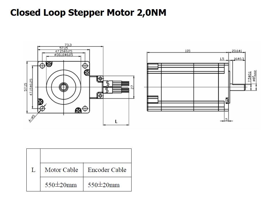 nema 23 closed loop stepper system 20nm 2phase