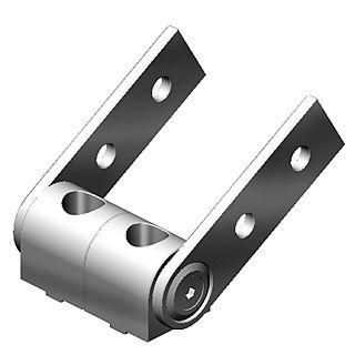 pivot joint 180 degree for 40x80 profile 2 slot version