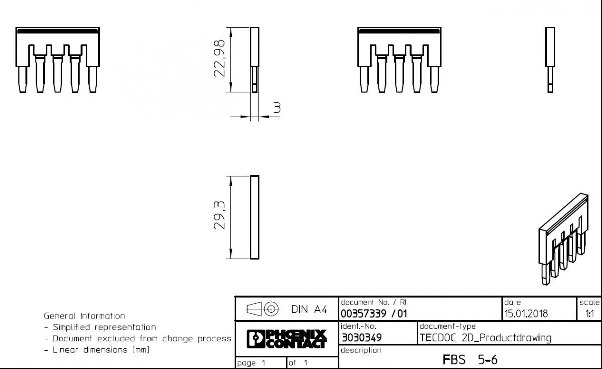 plugin bridge fbs 56 3030349 5poles