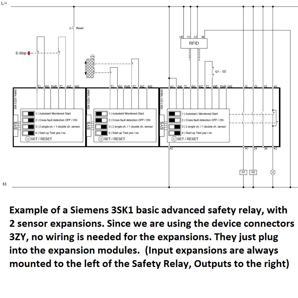 Siemens 3sk1121 1ab40 Safety Relay Basic Advanced Screw Type Damencnc B V