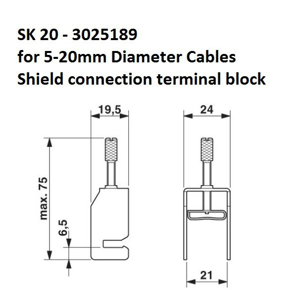 sk20 520mm shield connection terminal block